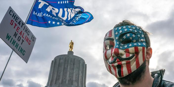 trump supporter guy fawkes mask
