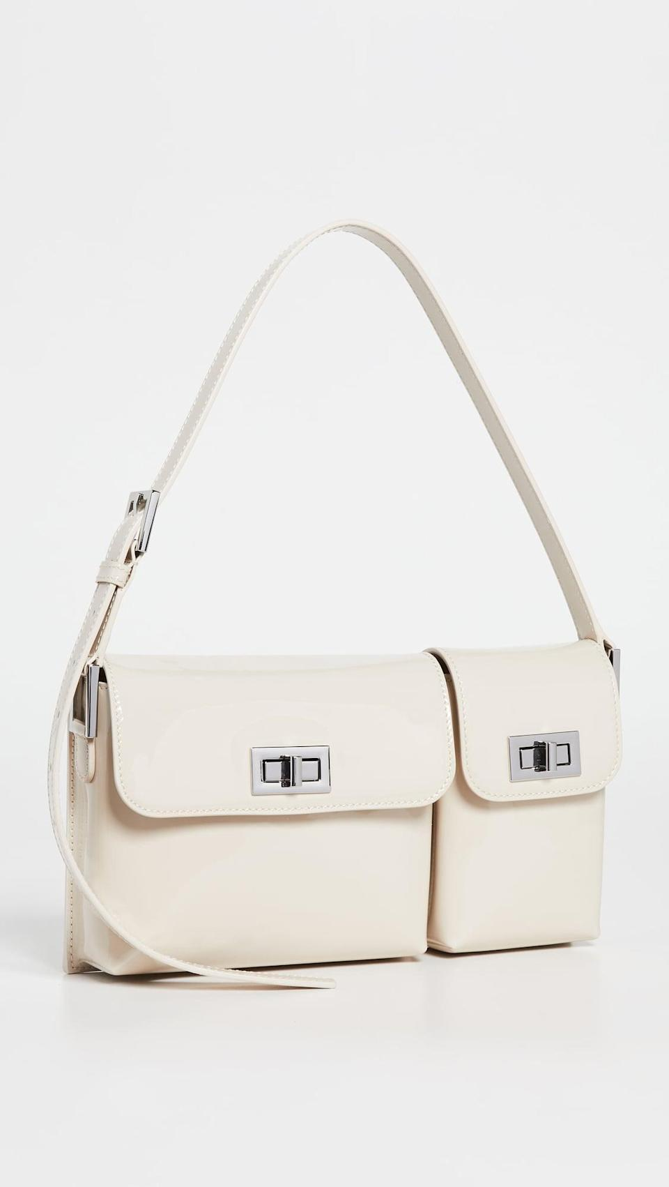 <p>The chic design of the <span>BY FAR Billy Bag</span> ($564) will have all your friends asking where it's from. We can't help but love the two-compartment look.</p>