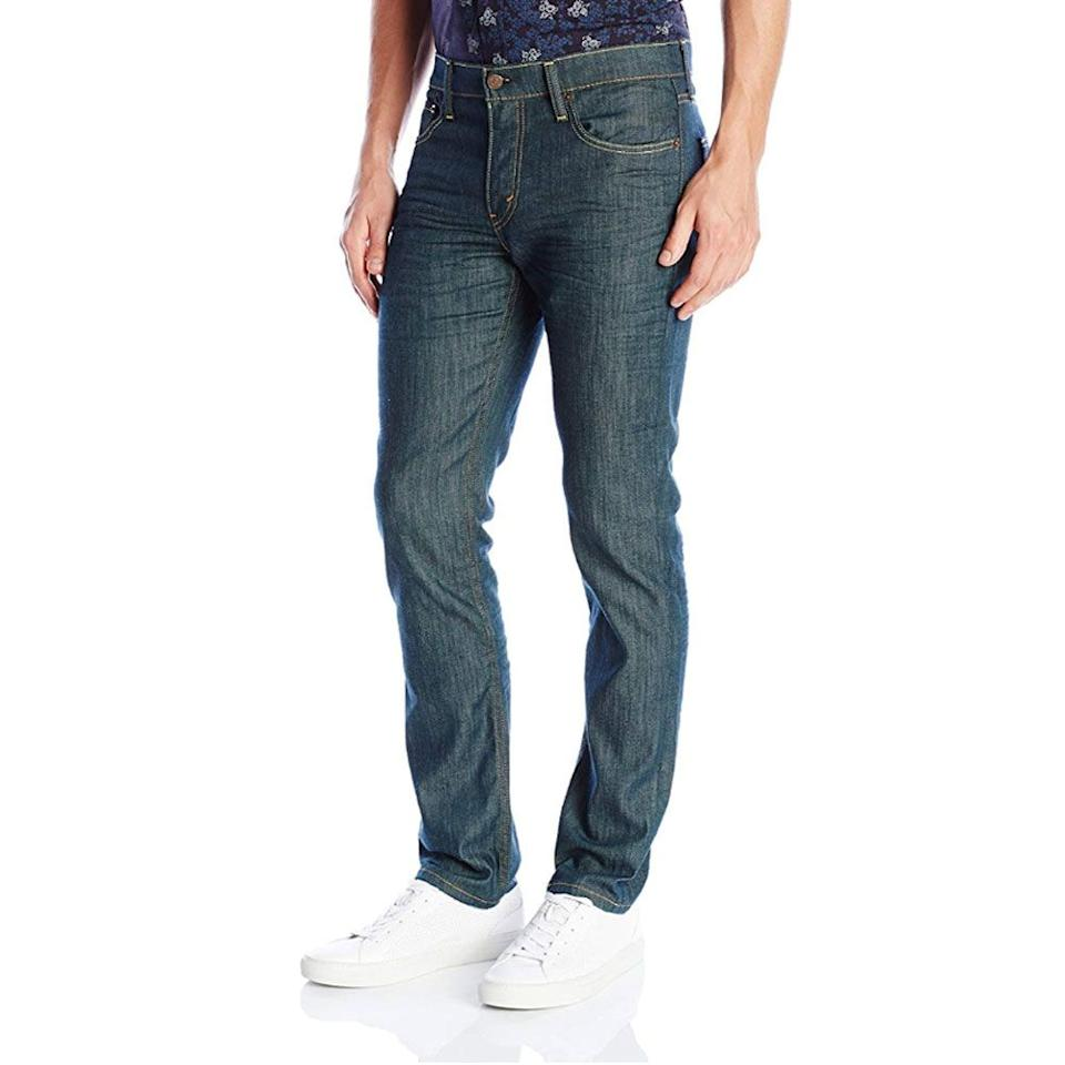 """<p><strong>Levi's</strong></p><p>amazon.com</p><p><a href=""""https://www.amazon.com/dp/B0097PKPB8?tag=syn-yahoo-20&ascsubtag=%5Bartid%7C2139.g.28771976%5Bsrc%7Cyahoo-us"""" target=""""_blank"""">BUY IT HERE</a></p><p><del>$69.50</del><strong><br>$27.80</strong></p><p>A dark wash jean with a little bit of stretch is basically the workhorse of pants, providing you with comfort and total wardrobe versatility. Wear them from work to drinks.<br></p>"""
