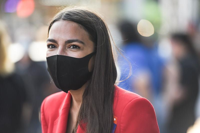 Rep. Alexandria Ocasio-Cortez (D-N.Y.) campaigns on June 23 in the Bronx borough of New York City. (Photo: Stephanie Keith via Getty Images)