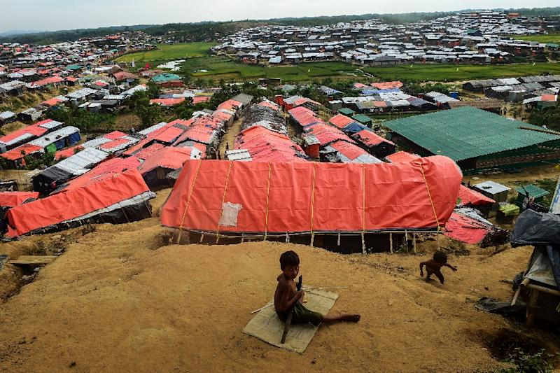 Some 655,000 Rohingya have fled to Bangladesh to escape a military crackdown in Rakhine state (AFP Photo/Munir UZ ZAMAN)