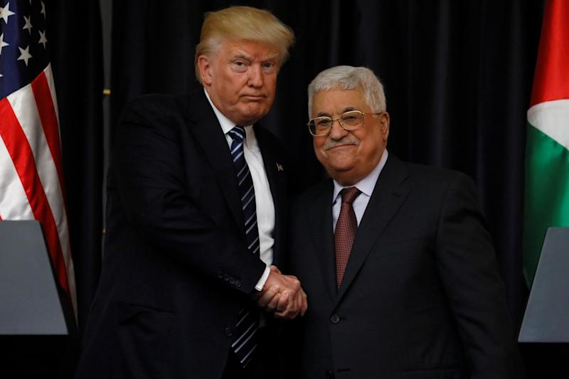 Relations between the two leaders appeared cordial in their joint remarks to media in Bethlehem on 23 May 2017: REUTERS