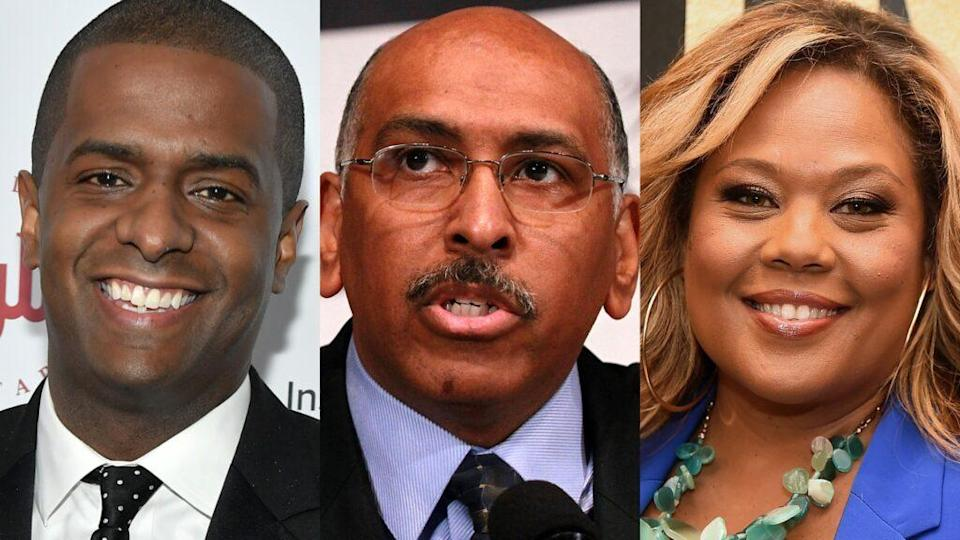 Left to right: Bakari Sellers, Micheal Steele and Tara Setmayer. (Photo: Getty Images)