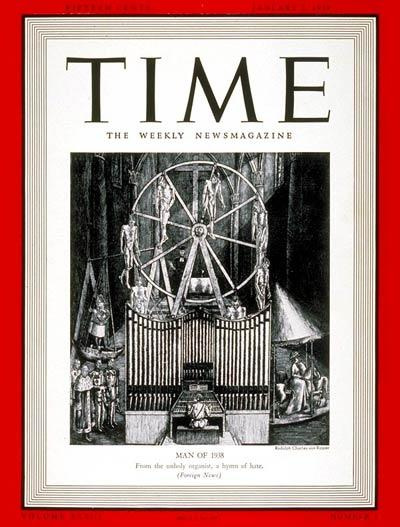 The Jan. 2, 1939, cover of TIME | Cover Credit: RUDOLPH C. VON RIPPER