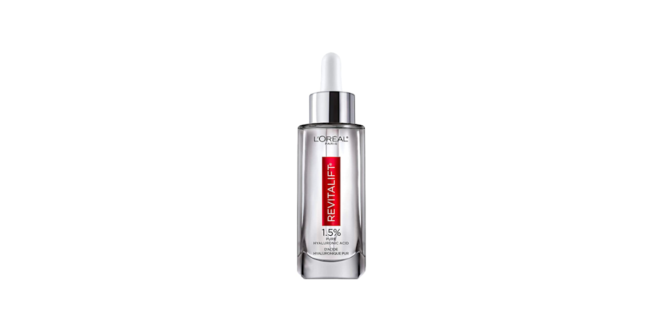 """<p><strong>L'Oréal</strong></p><p>ulta.com</p><p><strong>$29.99</strong></p><p><a href=""""https://go.redirectingat.com?id=74968X1596630&url=https%3A%2F%2Fwww.ulta.com%2Fp%2Frevitalift-derm-intensives-hyaluronic-acid-face-serum-pimprod2001763&sref=https%3A%2F%2Fwww.oprahdaily.com%2Fbeauty%2Fskin-makeup%2Fg27529759%2Fbest-hyaluronic-acid-serum%2F"""" rel=""""nofollow noopener"""" target=""""_blank"""" data-ylk=""""slk:Shop Now"""" class=""""link rapid-noclick-resp"""">Shop Now</a></p><p>With 1.5% hyaluronic acid (seems like a little; it's really a lot), this lightweight fast-absorbing serum promises to plump skin in two weeks. The best part: it's been evaluated to be safe to use on even the most sensitive of skin.</p>"""