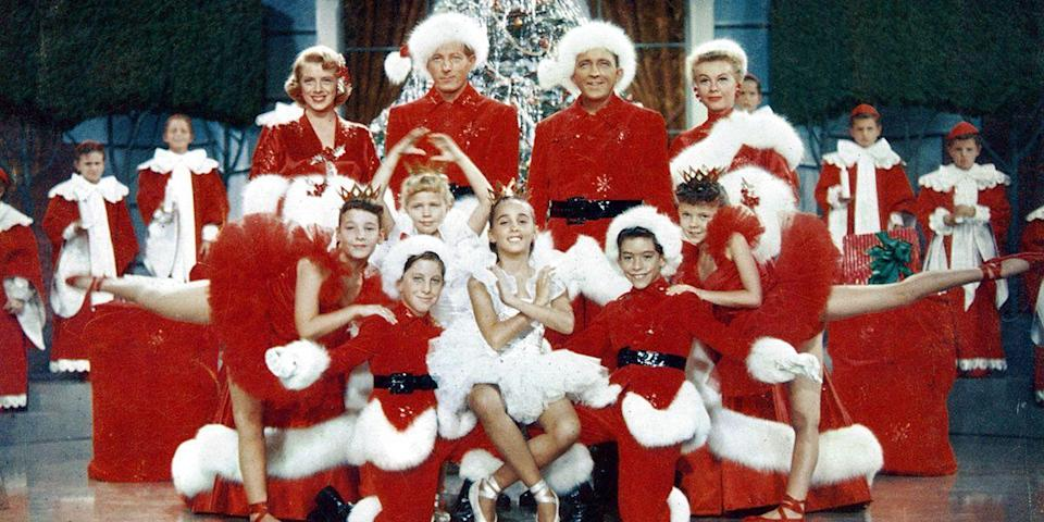 """<p>Though some would argue <em>White Christmas</em>'s snowy lookalike, <em>Holiday Inn</em>—the <em>other</em> Bing Crosby-and-Irving Berlin collaboration—deserves mention (it did come to life first, after all), it's the former, starring Crosby and Danny Kaye, we simply can't not watch. <a href=""""https://www.youtube.com/watch?v=DXKxazgio2s"""" rel=""""nofollow noopener"""" target=""""_blank"""" data-ylk=""""slk:Blessings = counted"""" class=""""link rapid-noclick-resp"""">Blessings = counted</a>.</p><p><em>Stream on amazon.com, $4 to rent, $13 to buy.</em> <a class=""""link rapid-noclick-resp"""" href=""""https://www.amazon.com/dp/B000IBUOX4?tag=syn-yahoo-20&ascsubtag=%5Bartid%7C10056.g.13149732%5Bsrc%7Cyahoo-us"""" rel=""""nofollow noopener"""" target=""""_blank"""" data-ylk=""""slk:WATCH"""">WATCH</a></p>"""