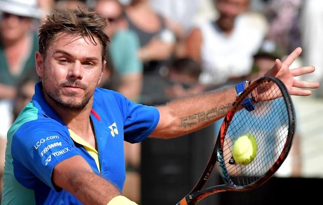 Stan Wawrinka, pictured on May 18, 2017, is seeking his first title of the year in what would be a major boost ahead of the French Open (AFP Photo/TIZIANA FABI)
