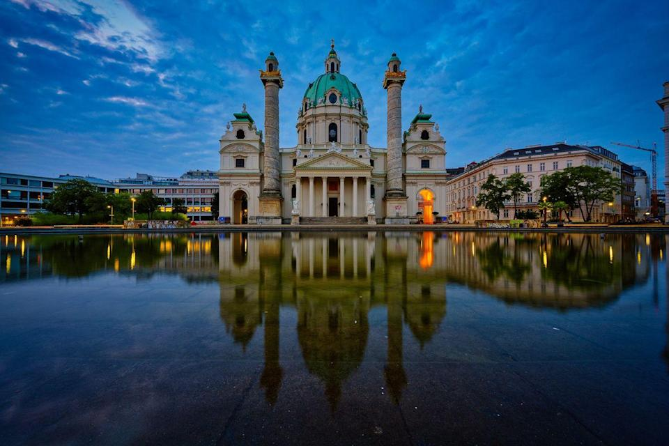 <p>This awe-inspiring cathedral is the symbol of Austria's capital city. The last work of famed Baroque architect Johann Bernhard Fischer von Erlach, the church was built in the 19th century and commissioned by Emperor Charles VI after the final great plague epidemic took place. </p><p>St. Charles Cathedral appropriately honors the patron saint Charles Borromeo, who is known for feeding and ministering to those who suffered from Europe's 16th-century plagues. Hedy Lamarr, an icon of Old Hollywood and inventor of the technology that led to modern-day WiFi, GPS, and Bluetooth, even got married to her first husband in the church's tiny chapel in 1933. </p>