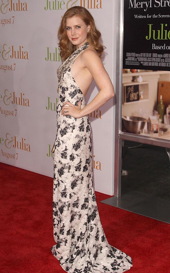 """<a href=""""http://movies.yahoo.com/movie/contributor/1800018895"""">Amy Adams</a> at the New York premiere of <a href=""""http://movies.yahoo.com/movie/1810006886/info"""">Julie & Julia</a> - 07/30/2009"""