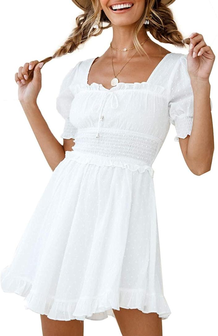 <p>This <span>Simplee Puff-Sleeve Dress</span> ($28) gives me cottagecore vibes.</p>