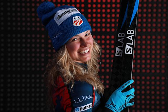 <p>Cross-Country Skier Jessie Diggins poses for a portrait during the Team USA Media Summit ahead of the PyeongChang 2018 Olympic Winter Games on September 27, 2017 in Park City, Utah. (Photo by Ron Jenkins/Getty Images) </p>