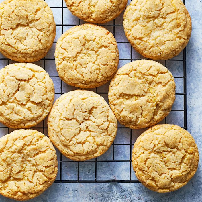 <p>This spin on snickerdoodles packs a bright lemony punch. The sugar on the outside creates such a crisp, sweet crust to contrast the soft, pillowy inside.</p>