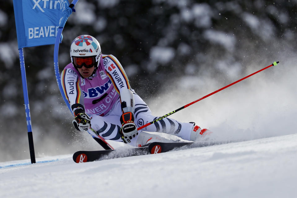 "<a href=""https://sports.yahoo.com/skier-stefan-luitz-stripped-first-career-world-cup-win-using-oxygen-mask-174849279.html"" data-ylk=""slk:Germany skier Stefan Luitz was stripped of his first career World Cup win because of his use of an oxygen mask;outcm:mb_qualified_link;_E:mb_qualified_link;ct:story;"" class=""link rapid-noclick-resp yahoo-link"">Germany skier Stefan Luitz was stripped of his first career World Cup win because of his use of an oxygen mask</a>. (AP Photo/John Locher)"