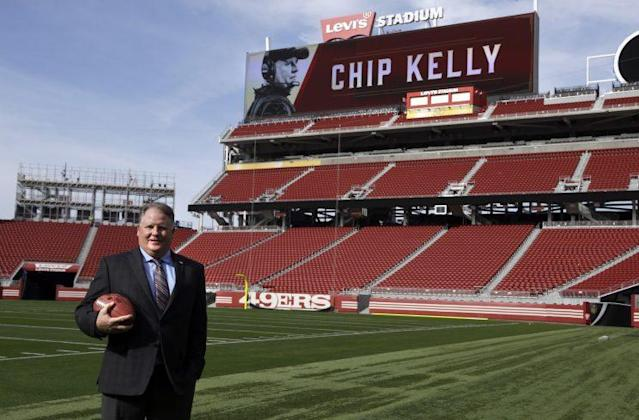 Chip Kelly hopes to turn around the 49ers (AP)
