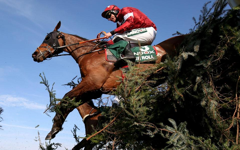 Tiger Roll ridden by Davy Russell before winning the 5.15 Randox Health Grand National Handicap Chase - Action Images via Reuters