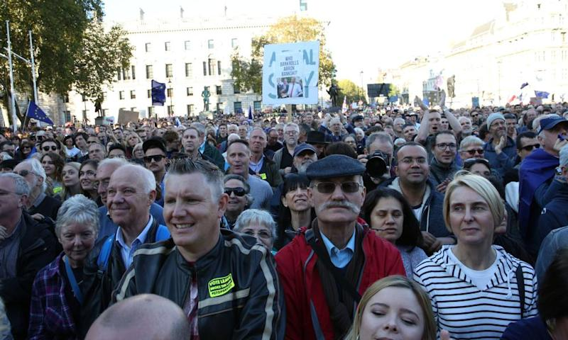 The People's Vote march in London on Saturday.