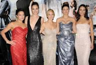 <p>Co-stars Michelle Rodriquez , Gadot, Elsa Pataky , Gina Carano , and Jordana Brewster pose at the Fast & Furious 6 London premiere on May 7, 2013. (Photo: Stuart C. Wilson/Getty Images) </p>