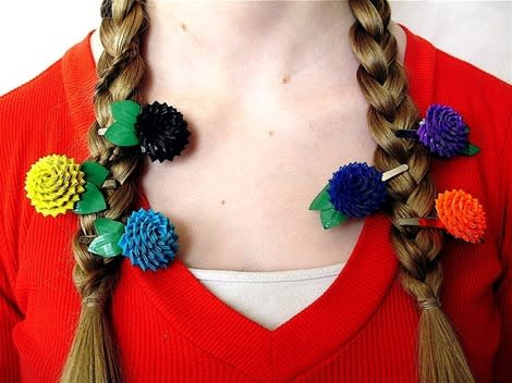 Duct Tape Hair Clips