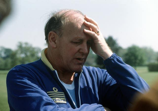Former England manager Ron Greenwood