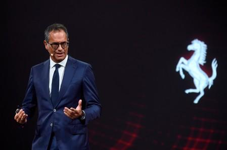 Ferrari's Chief Design Officer Flavio Manzoni attends a press conference to present two new Ferrari models at company's headquarters in Maranello