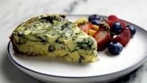 """The slow cooker is a masterful way to make frittatas—the eggs stay moist and tender thanks to the steady, low temperature. <a href=""""https://www.epicurious.com/recipes/food/views/slow-cooker-asparagus-and-zucchini-frittata?mbid=synd_yahoo_rss"""" rel=""""nofollow noopener"""" target=""""_blank"""" data-ylk=""""slk:See recipe."""" class=""""link rapid-noclick-resp"""">See recipe.</a>"""