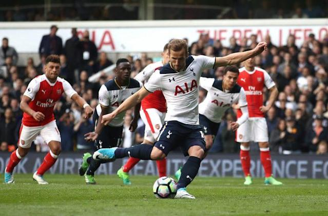 Harry Kane converts Tottenham's second goal of the game
