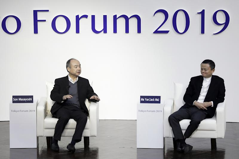 SoftBank Chairman Masayoshi Son and Former Alibaba Group Chairman Jack Ma Discuss at Tokyo Forum