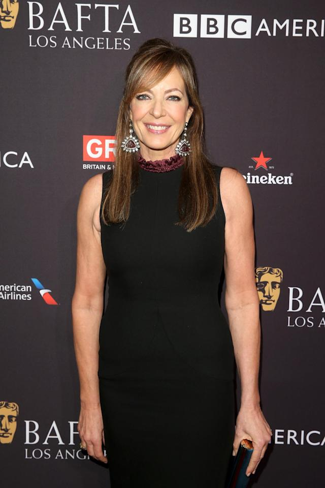 Allison Janney at the BAFTA Tea Party. (Photo: Getty Images)