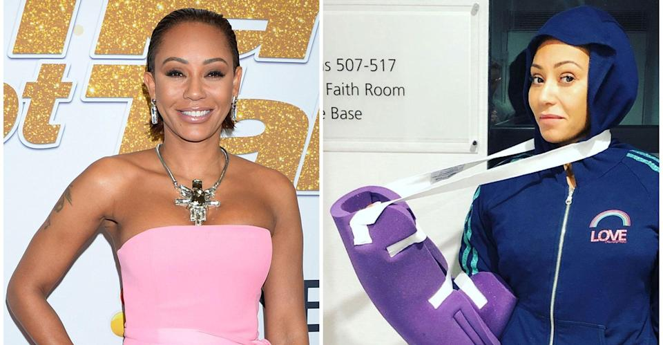 Mel B wrote about her injuries on Instagram. (PA Images/Instagram)