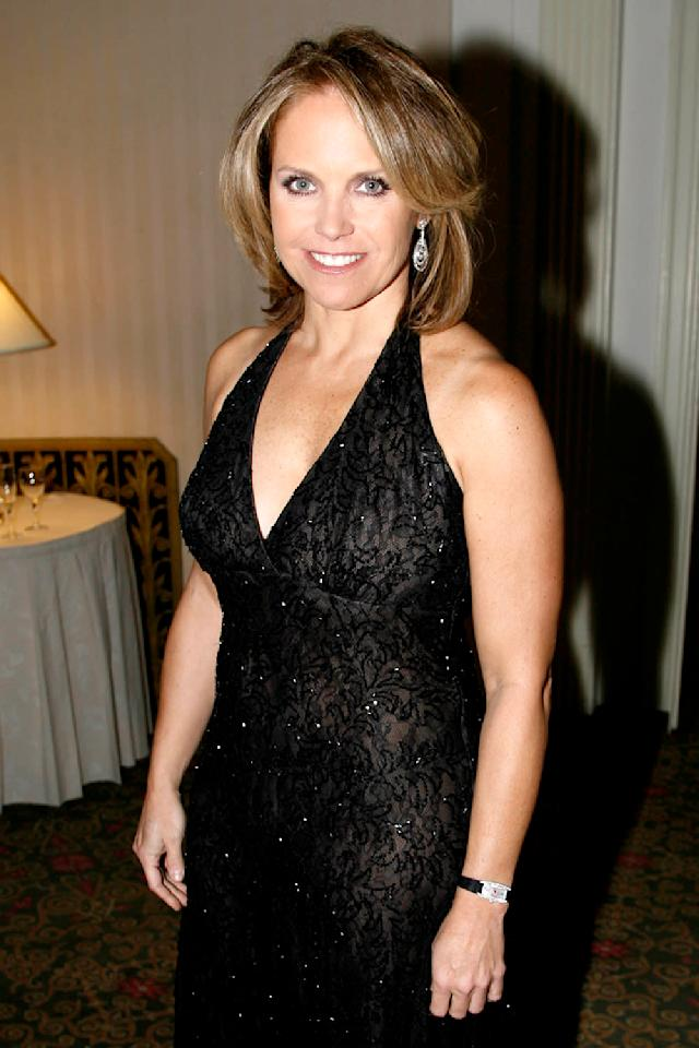 Katie Couric attends the Jackie Robinson Foundation awards dinner, March 5, 2007, in New York City. (Photo: David X Prutting/Patrick McMullan via Getty Images)