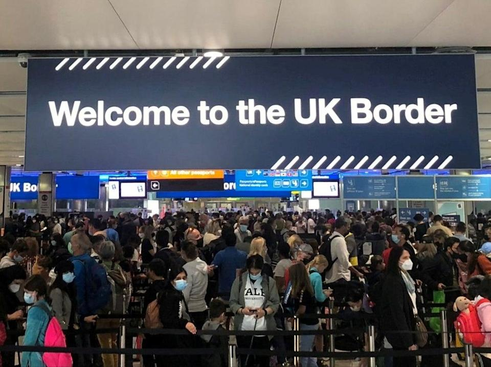 Welcome home? the e-gates at Heathrow and other UK airports are now said to be working again  (REUTERS)