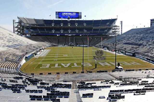 Nov 29, 2014; University Park, PA, USA; A general view of Beaver Stadium prior to the game between the Michigan State Spartans and the Penn State Nittany Lions. (Matthew O'Haren-USA TODAY Sports)
