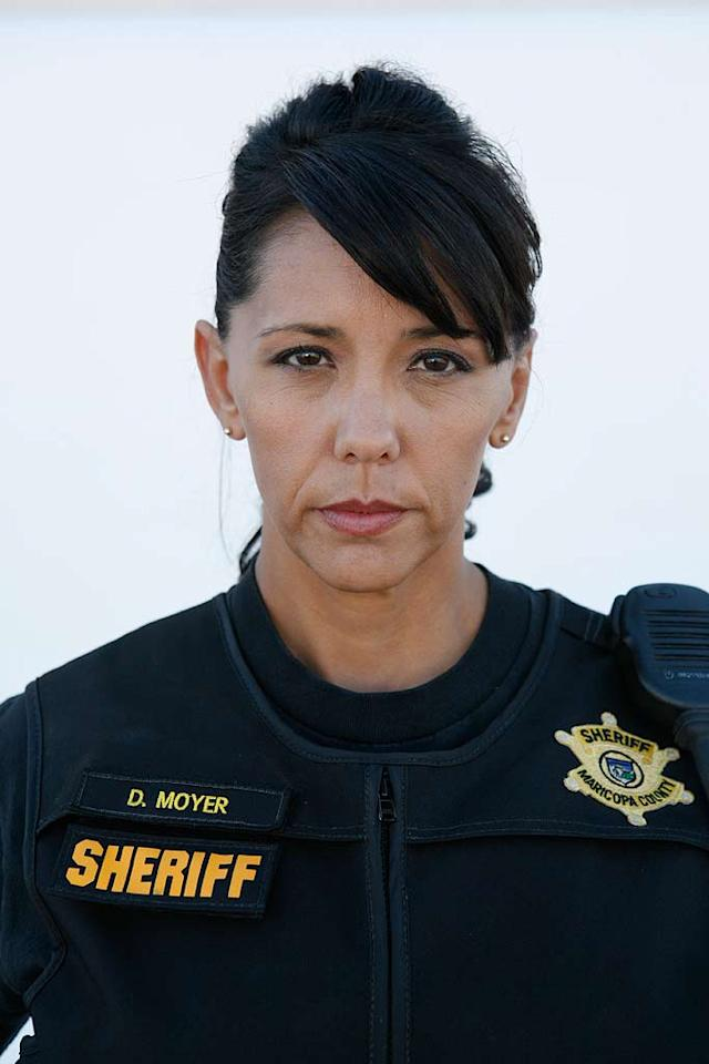 """Maricopa County Detective Deborah """"Deb"""" Moyer  during the filming of """"The Police Women of Maricopa County""""."""