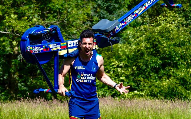 Paul Disney tried to carry a 26KG, 2.5M long unbalanced Concept 2 rowing machine up Western Europe's highest mountain - Nick Tryon