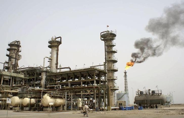 General view of Sheaiba oil refinery in Basra
