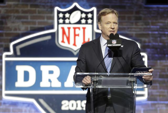 A coronavirus fundraiser will be part of the NFL draft's broadcast. (AP Photo/Steve Helber, FIle)