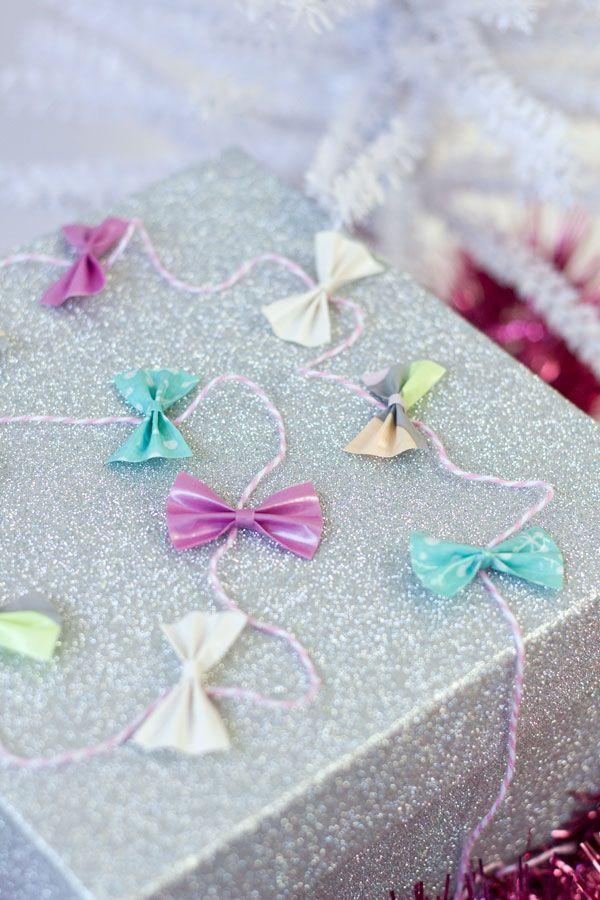 """<p>You'd never guess this pretty little bow garland is made largely of duct tape. </p><p>Get the tutorial at <a href=""""https://studiodiy.com/diy-tiny-duct-tape-bow-gift-garland/"""" rel=""""nofollow noopener"""" target=""""_blank"""" data-ylk=""""slk:Studio DIY"""" class=""""link rapid-noclick-resp"""">Studio DIY</a>.</p><p><a class=""""link rapid-noclick-resp"""" href=""""https://www.amazon.com/GatorCrafts-NEW-Colored-Variety-Rainbow/dp/B078M21NYH?tag=syn-yahoo-20&ascsubtag=%5Bartid%7C10072.g.34015639%5Bsrc%7Cyahoo-us"""" rel=""""nofollow noopener"""" target=""""_blank"""" data-ylk=""""slk:SHOP DUCT TAPE"""">SHOP DUCT TAPE</a></p>"""