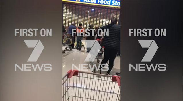 Some of the shoppers arrived over an hour before the doors opened. Photo: Supplied