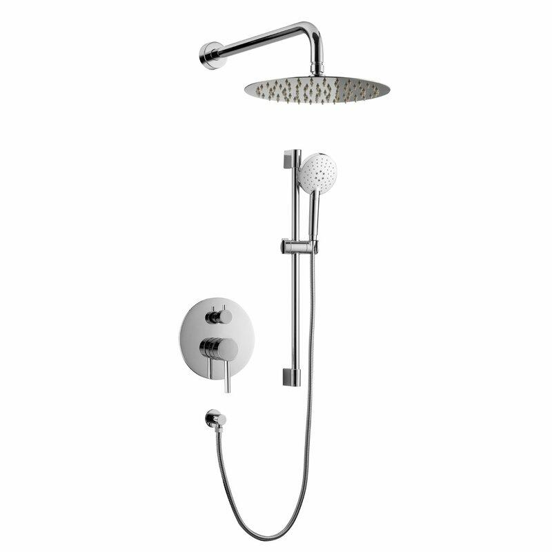 Louth Temperature Control Complete Shower System with Rough-in Valve