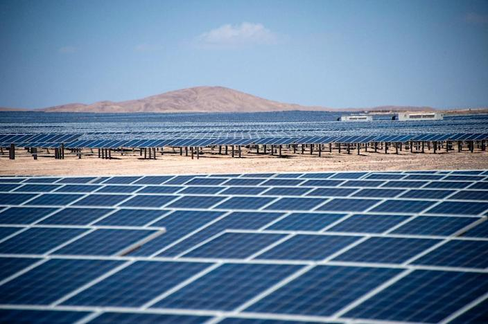 Double-digit growth last year in solar and wind power generation was still not fast enough to meet soaring electricity demand that also pushed up the use of coal, the most carbon-intensive of fuels (AFP Photo/Martin BERNETTI)
