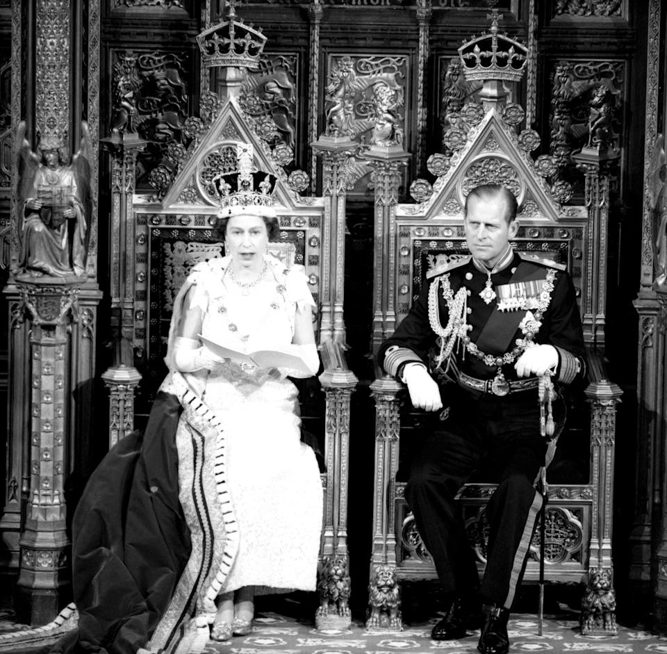 The Queen and the Duke of Edinburgh at the State Opening of Parliament in 1967PA Archive