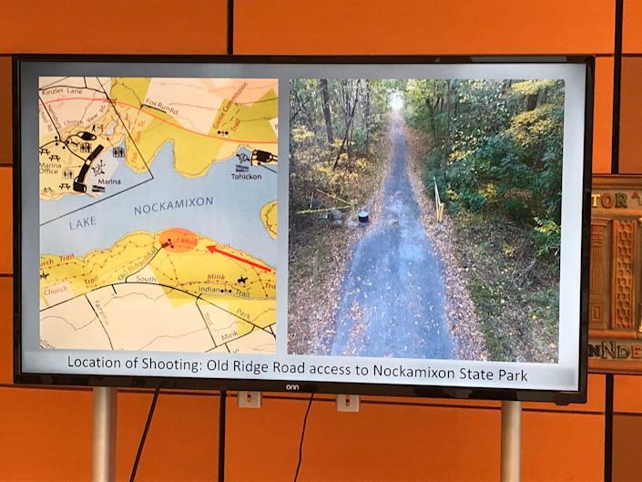Jason Kutt, 18, was shot in the back of the neck while at Nockamixon State Park Saturday. A man in hunting gear was spotted on Old Ridge Road shortly after the shooting.