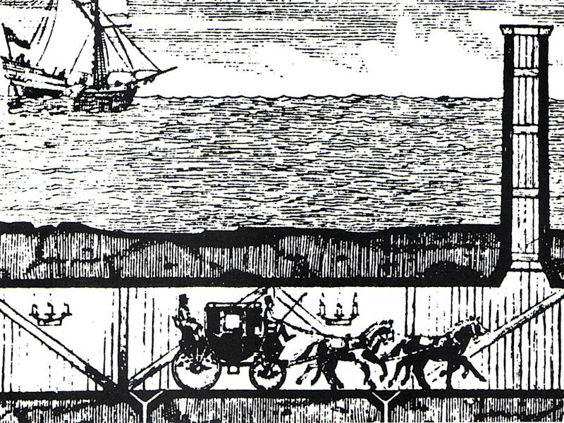 Albert Mathieu-Favier's 1802 proposal for a coach service beneath the Channel (Creative Commons)