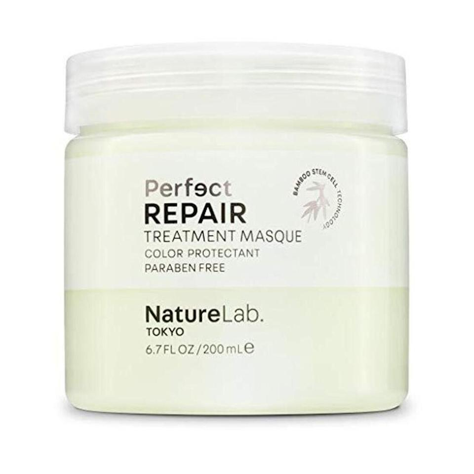"""NatureLab's Perfect Repair Treatment Masque uses stem cells from bamboo, argan oil, and prickly pear oil to nourish your hair whether it's damaged from color-treating or chemical processes. Fitzsimons (who is an ambassador for the brand) swears by this mask and says he likes using it as a styling product. """"I'll apply it to damp hair and style it into place, almost like a gel, but it's repairing my hair throughout the day."""" For regular use, he recommends applying to clean, conditioned hair for 10 to 15 minutes before rinsing. """"It'll leave your hair smoother, softer, shinier, and in better health."""""""