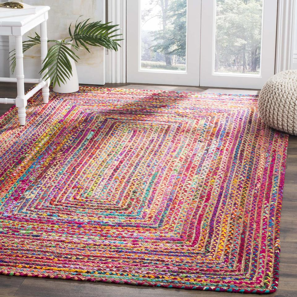 "<p>We're head over heels for all the color on this <a href=""https://www.popsugar.com/buy/Safavieh-Cape-Cod-Miah-Braided-Area-Rug-433312?p_name=Safavieh%20Cape%20Cod%20Miah%20Braided%20Area%20Rug&retailer=walmart.com&pid=433312&price=19&evar1=casa%3Aus&evar9=46016473&evar98=https%3A%2F%2Fwww.popsugar.com%2Fphoto-gallery%2F46016473%2Fimage%2F46016476%2FSafavieh-Cape-Cod-Miah-Braided-Area-Rug&list1=shopping%2Chome%20decor%2Cwalmart%2Crugs%2Chome%20shopping&prop13=api&pdata=1"" rel=""nofollow"" data-shoppable-link=""1"" target=""_blank"" class=""ga-track"" data-ga-category=""Related"" data-ga-label=""https://www.walmart.com/ip/Safavieh-Cape-Cod-Miah-Braided-Area-Rug-or-Runner/186378913?athcpid=186378913&amp;athpgid=athenaItemPage&amp;athcgid=null&amp;athznid=PWVAV&amp;athieid=v0&amp;athstid=CS020&amp;athguid=c3491430-184-16a086de8e073b&amp;athena=true"" data-ga-action=""In-Line Links"">Safavieh Cape Cod Miah Braided Area Rug</a> ($19-$232).</p>"