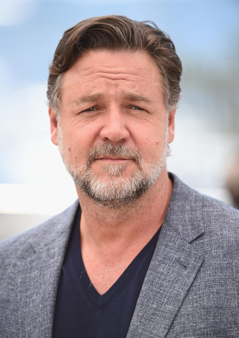 Russell Crowe attends a photo call during the Cannes Film Festival on May 15, 2016.
