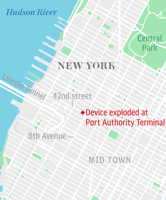 New York explosion at Port Authority Terminal