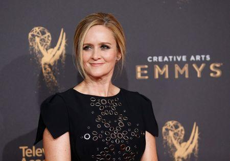 Television host Samantha Bee poses at the 2017 Creative Arts Emmy Awards in Los Angeles, California