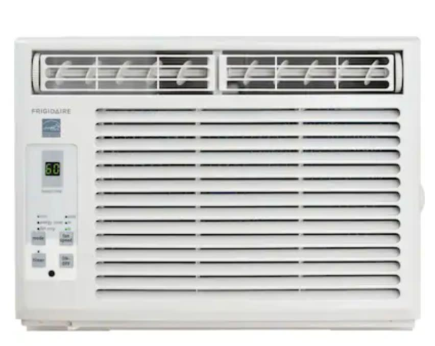 "This air conditioner has a full-function remote control, a low power start-up and operation feature to conserve energy and a quiet option for night time. It has a 4.3-star rating with over 200 reviews. <a href=""https://fave.co/2zg9Uch"" rel=""nofollow noopener"" target=""_blank"" data-ylk=""slk:Find it for $220 at Lowe's"" class=""link rapid-noclick-resp"">Find it for $220 at Lowe's</a>."