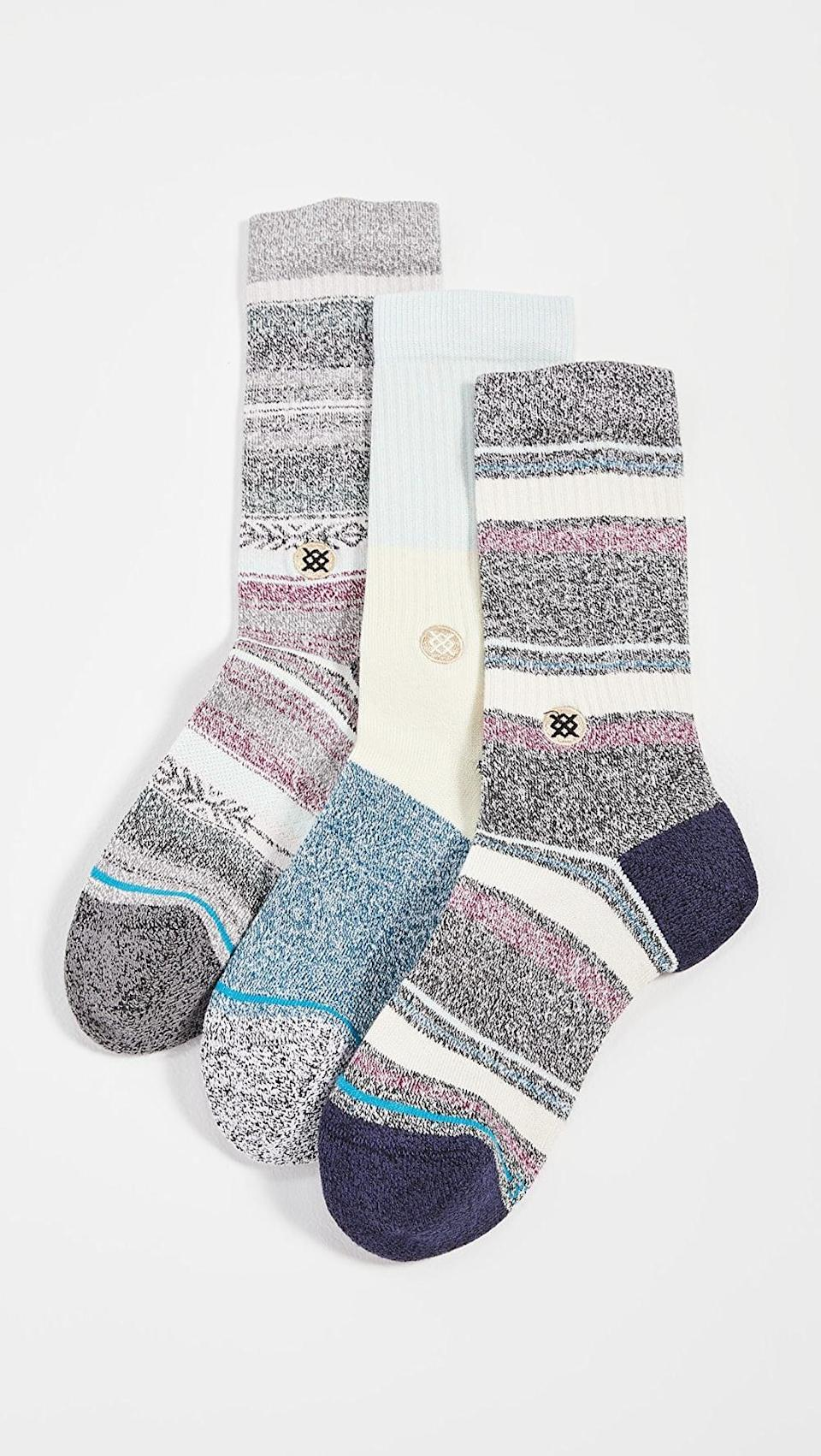 <p>These <span>Stance Bu Bu Butterblend Socks 3 Pack</span> ($60) are so fun.</p>